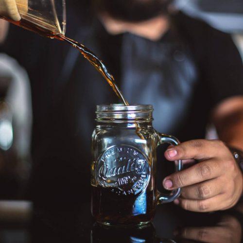 cold brew coffee with aeropress